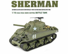 1:16 US M4A3 Sherman RC Tank Airsoft w/ Sound & Smoke Remote Control 2.4GHz New