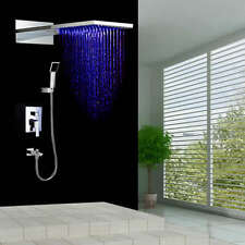 "Rain Shower Kits Tub Spout and 22"" LED Color Changing Dual Shower Head HM-0815"