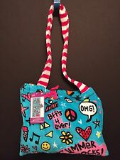 BEACH TOWEL IN A BAG GIFT SUMMER ROCKS GIRL POOL FUN PARTY