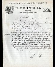 """SAINT-MICHEL-de-VOLANGIS (18) MARECHALERIE SERRURERIE """"E. VERNEUIL"""" en 1913"""