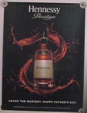 New Lot of 2 Store Display Paper Posters HENNESSY Privilege Happy Fathers Day