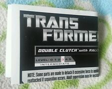 TRANSFORMERS PCC DOUBLE CLUTCH INSTRUCTION BOOKLET ONLY