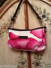 Longchamp Darshan Purse Wristlet Pink Floral Roses Paris Rt$165