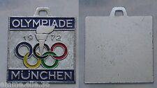 MEDAGLIA ARGENTATA OLYMPIADE MÜNCHEN 1972 - XX.a OLIMPIADE - CERCHI E FIACCOLA -