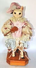 RARE WENDY BRENT LOVE AND ROSES TALES FROM THE VIENNA MUSICAL CAT 'n FIDDLE DOLL