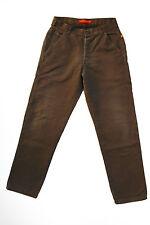 RICA LEWIS JEANS WORKER LADIES Brown Trousers Pants I50 W32 UK14 Baggy