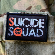 Suicide Squad Movie Logo Morale Patch Tactical Military Army Badge Hook Flag