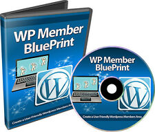 How To Create a User Friendly Wordpress Members Area- Videos on 1 CD