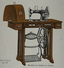 CATALOGUE VESTA MACHINE A COUDRE, 1930, illustrations