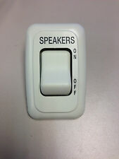 SINGLE SPEAKER SWITCH PLATE PLUG IVORY RV CAMPER MOTORHOME MOTOR COACH ON OFF