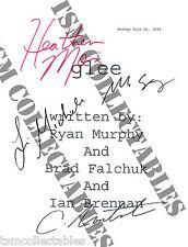 GLEE autographed script Cory MONTEITH Lea MICHELLE Heather MORRIS signed auto'd
