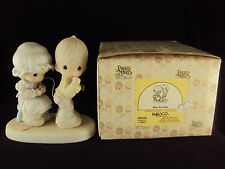 Precious Moments, 106844, Sew In Love, Issued 1987, Retired 1997, Free Shipping
