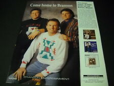 GATLIN BROTHERS want you to COME HOME TO BRANSON Missouri 1994 PROMO POSTER AD