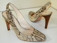 i COACH Women NATURAL PYTHON SNAKE Skin SLINGBACK Hi Heels Leahter Shoes 9 B