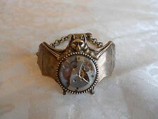 Fabulous STEAMPUNK Bat Watch Movement Bracelet! Handmade in USA!