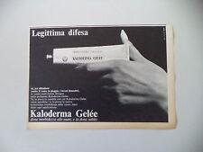 advertising Pubblicità 1966 KALODERMA GELEE