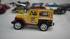 2017 Matchbox Yellow Toyota Land Cruiser FJ40 Hot Wheels Custom Real Riders