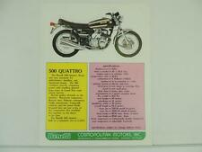 Vintage Benelli 500 Quattro 750 Sei Dealer Brochure and Specifications L2678