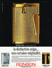 PUBLICITE ADVERTISING 055  1969  RONSON 500  briquet automatique