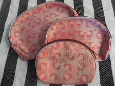 3x Hello Kitty Cosmetic Make Up Bags NWT