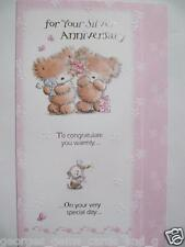 LOVELY CUTE TEDDY BEARS FOR YOUR SILVER 25TH ANNIVERSARY GREETING CARD