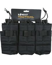 KOMBAT MOLLE TRIPLE DUO MAG POUCH BLACK