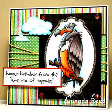 OLD BUZZARD (U get  photo # 2)  L@@k@ examples art impressions rubber stamps