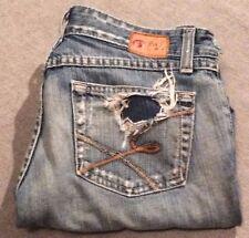 Women's Pants Bottoms Buckle Blue Jeans 27 x 33.5