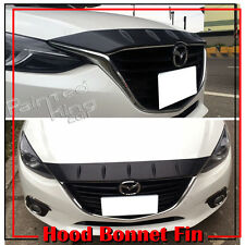 Unpainted For Mazda 3 BM 3rd Maxx 4DR 5DR Front Hood Bonnet Fin Spoiler Wing