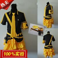 Vocaloid Kagamine Rin/Len Cosplay Costume Rin Cosplay Dress Custom