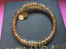NEW ALEX and ANI VINTAGE 66 Russian GOLD TOPAZ STARLET Beaded Wrap BRACELET