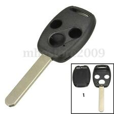 3 Buttons Remote Key Case Fob Shell Replace For Honda Accord Fit Civic CRV Pilot