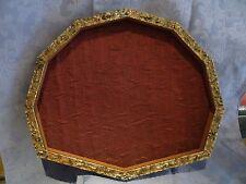 cornice ventagliera in legno dorato anticato