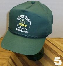 YELLOWSTONE BRAND MONTANA SULPHUR BILLINGS MT AGRICULTURE PRODUCTS HAT VGC