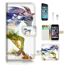 iPhone 6 6S (4.7') Flip Wallet Case Cover P2973 Horse