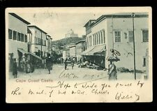 West Africa Gold Coast Ghana CAPE COAST CASTLE 1908 street scene u/b PPC