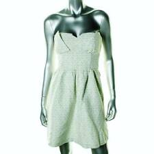 KENSIE ~ NEW $129 PALE GREEN EYELET STRAPLESS DRESS ~ SZ 12 ~ NWT