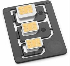 3 in1 Nano/Micro to Micro/Standard SIM Card Adapter Tray For Samsung Motorola LG