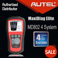 Autel MaxiDiag Elite MD802 4SYSTEM+DS Model OBD Diagnostic Scan Tool Code Reader