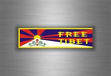 Sticker decal car vinyl vehicle free tibet tibetan flag buddha bumper  ohm om