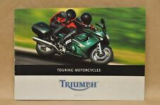 2001 Triumph Touring Motorcycle Brochure Sprint ST Trophy 1200 900 Tiger Specs