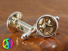 Doctor Who Tardis Phone Box Gallifrey Gallifreyan Jewelry Novelty Cufflinks Gift