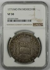1771-MO FM Mexico 8 Reales Silver Coin NGC VF-30