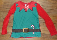 Super Soft Elf Costume Fleece Pajama Top Size Small Holiday Famjams by Vayola