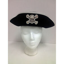 Caribbean Pirate Adult Traditional Costume Hat White Trim Rubies 49289
