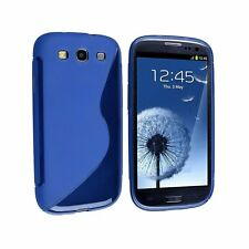 CUSTODIA COVER per SAMSUNG GT i9300 GALAXY S3 BACK CASE S-LINE BLU