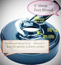 Metal 5-Inch Dust Shroud for Grinders / Concrete Grinding Diamond Cup Wheels