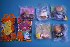 McDonald's 1993 - Halloween McNugget Buddies - Lot of 5 Different MIP plus Box