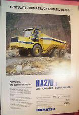 ✪altes original Prospekt/Sales Brochure Komatsu Articulated Dump Truck HA270-3