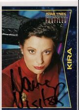 Star Trek Signed Card Auto DS9 Profiles Kira Nerys Nana Visitor v42